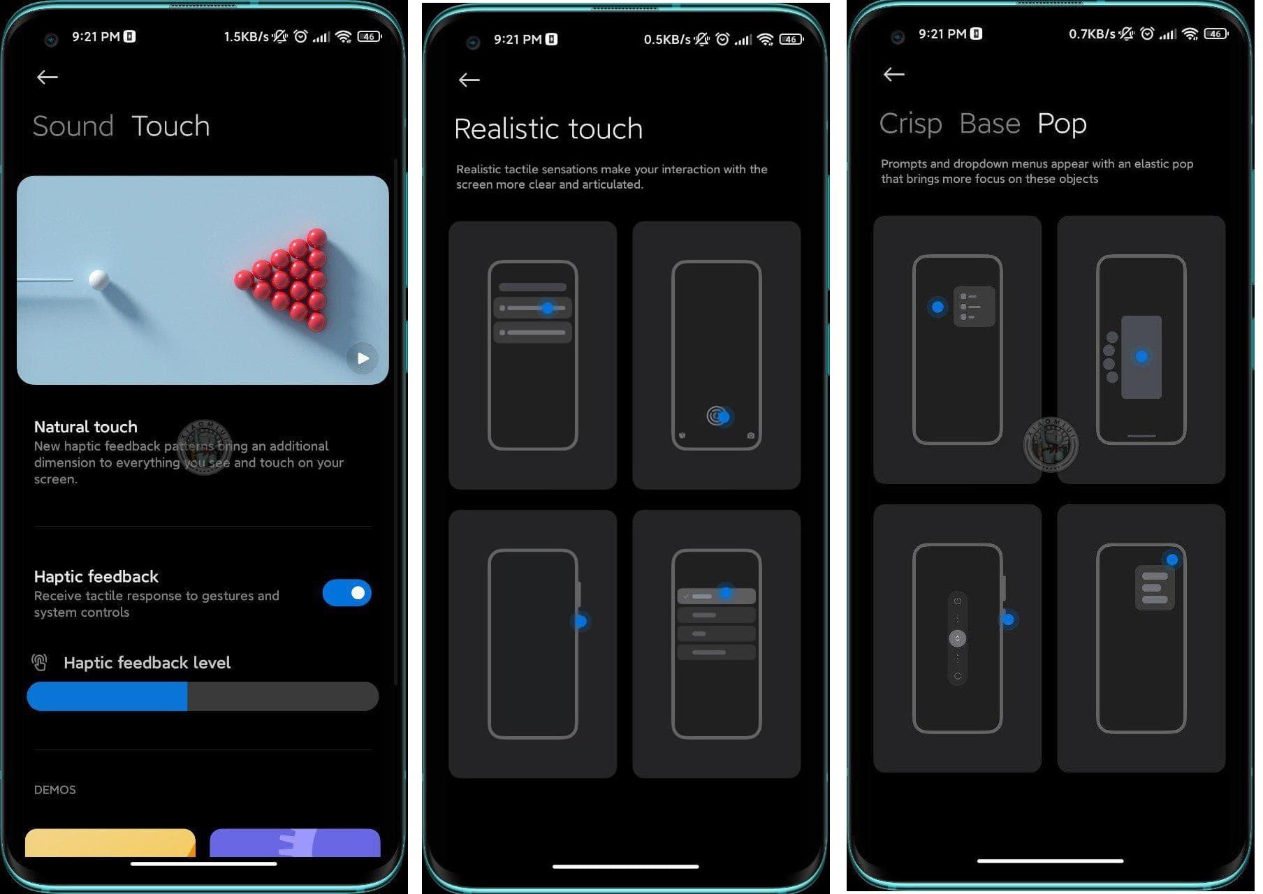Xiaomi добавила в MIUI 12.5 тактильную обратную связь Natural Touch