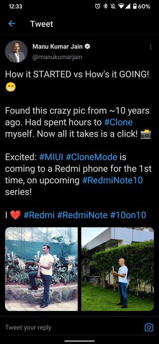 Redmi Note 10 первым получит камеру с режимом клонирования
